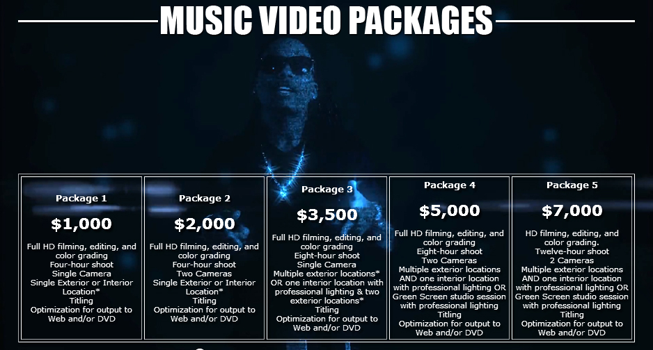 MusicVideotPackagesDesign1